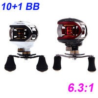 Saltwater carp fishing reels - 2015 New BB Ball Bearings Pesca Right Hand Bait Casting Carp Fishing Reel High Speed LMA200 Red White H10519
