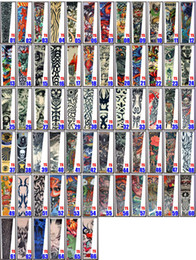Wholesale 134 Style Nylon Stretchy Fake Tattoo Sleeve Arms Fancy Dress Costume