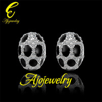 Wholesale 2014 KRGP black enamel insect design personality earrings stud for men