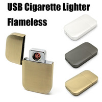 Wholesale Electronic Lighters Luxury USB Rechargeable No Flame Lighter Smoking Accessory Windproof Funny Gadget Gift For Man