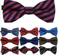 Wholesale children s polyester bow ties kids bow ties dropshipping