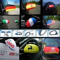 Wholesale Rear view mirror cover for World Cup for Brazil for Ford for Audi a6 car flags elastic strech custom car flag mirror