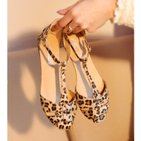 Women summer shoes - Lowest Price Leopard Print Flat Heel Women s Sandals Summer Women Summer Shoes Summer Shoes Fashion Sandals Sweet