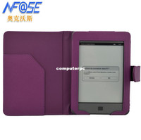 amazon touch case - CommonByte Smooth Purple Leather Case Cover Folio for Amazon Kindle Touch Reader quot