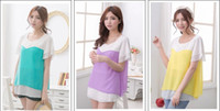 Wholesale Hot Summer Fashion Chiffon Maternity tops Nursing Shirts Breast Feeding Clothes Maternity Clothing