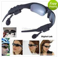 Wholesale News GB Glass MP3 Headphone without bluetooth Sunglasses Mp3 Player ZXJ