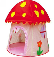Tents Animes & Cartoons Polyester Wholesale 10pcs Children Tent, Baby Toy Play Game House, Kids Princess mushroom Castle Toys Tents Free shipping H-802