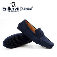 Wholesale Eu genuine leather men s loafers shoes men s fashion casual slip on driver shoes driving moccasons loafer flat shoes for men