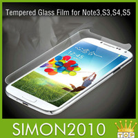 Wholesale Explosion proof Screen Protector for Samsung Galaxy S3 S4 S5 Note I9300 I9500 I9600 Premium Real Tempered Glass Film with retail package