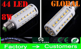 8W 5050 SMD LED Bulb 44 LEDs Corn Bulbs Light E27 E26 B22 E14 Home LED Lamp Cool Warm White Indoor Lighting Office LED Lights HOT Sell