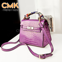 Wholesale CMK KB034 With Scarf The crocodile grain bag Small Handbags Children s Kids bag Designer Handbag Mini Shoulder Bag for Girls