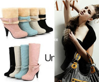 Wholesale sexy ladies shoes Fashion high heels high leg boots medium leg boots platform snow boots shoes woman
