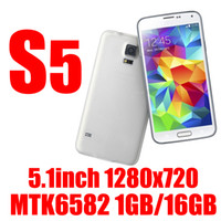 Wholesale HDC perfect S5 MTK6582 I9600 G900 G9008 G900F quot Android Quad core GB RAM GB GB ROM MP Camera G WCDMA MP3 cellphone