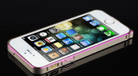 Wholesale New Double Color Cleave Aluminum mm Case Metal Bumper Frame Cover With buttons For iPhone S S Free DHL