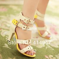 Wholesale New fashion genuine leather high heels party wedding shoes women lady platform women s pumps women s high heel sandals