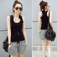 Cotton Women Animal 2014 Hot ! Tank Top Vest Cotton High Elastic Modal L-Shaped Sling Sexy Candy Color In Vain Bottoming Shirt black white purple
