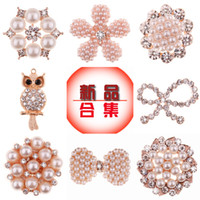 Other Jewelry Accessories Alloy Duan Wu Chinese factory direct material diy handmade hair accessories pearl faceplate diamond jewelry accessories wholesale rhinestone buckl