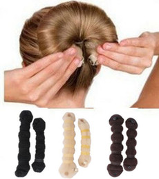 Wholesale Hot Fashion Hair Elegant Magic Style Bun Maker Buns large small Colors