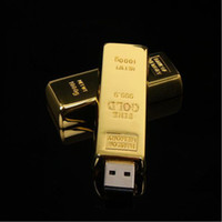 Wholesale HOT Gold bar GB Metal USB Flash Drive Pen Drive USB Flash Drive Card Memory Stick Drives Pendrive Iron box