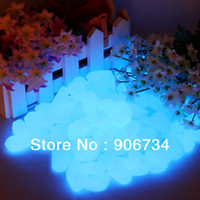 Ornaments EIA36 Resin Glowing Newest Decorative Gravel For Your Fantastic Garden or Yard 100 Glow in the Dark Pebbles Stones for Walkway Blue