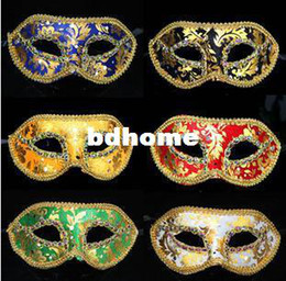 Wholesale new Hot Party Mask Masquerade Evening Masks Mix Color weman and male masks