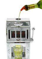 Plastic beer dispenser - 1300ML Flower Carving Silver jackpot liquor dispenser Mini Beer Machine Liquor Pump Gas Station Dispenser Liquid Soft Drink Dispenser