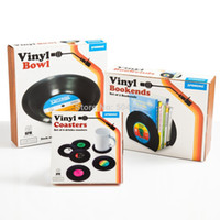 Wholesale EMS Pieces Sets Spinning Hat Retro Vinyl Record Drinks Coasters Vinyl Coaster Cup Mat