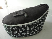 Cheap Free shipping skull black baby seat retail baby bed baby seat bean bag baby bean bag