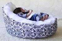 Wholesale black white flower baby seat retail baby bed baby seat bean bag baby bean bag