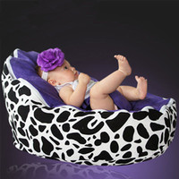 Wholesale cow purple baby seat retail baby bed baby seat bean bag baby bean bag