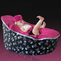 Cheap Free shipping skull red baby seat retail baby bed baby seat bean bag baby bean bag