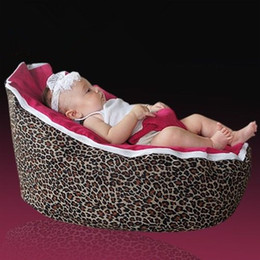 Wholesale leopard red baby seat retail baby bed baby seat bean bag baby bean bag