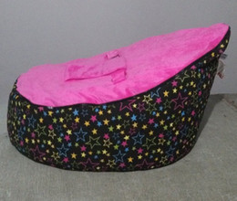 Wholesale pink star baby seat retail baby bed baby seat bean bag baby bean bag