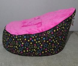 Wholesale pink star baby seat retail baby bed baby seat bean bag baby bean bag