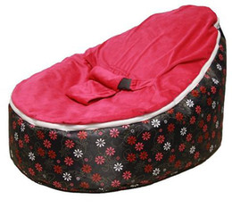 Wholesale pink flowers baby seat retail baby bed baby seat bean bag baby bean bag