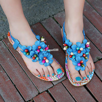 Wholesale Free New Summer Shoes Woman Sandals For Women Flats Fashion Slippers Wedges Sandal Casual Girl Women Pumps Flower Clip Toe