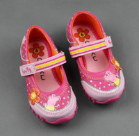 Girl Summer Leather 2014 New Peppa Pig Girl's Casual Shoes,Good PU Leather, Nonslip TPR Sole, Size 25-30