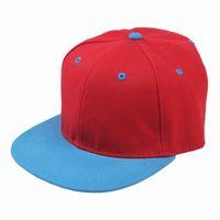 Wholesale Red Series Blue Brim Unisex Hiphop Hat Baseball Cap Ball Cap PC Colors Available EAZ1