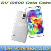 Wholesale 1 S5 I9600 MTK6592 Octa Core SV SM G900 Ram GB Rom GB Android Inch G WCDMA Single Micro Sim Card Smartphone DHL