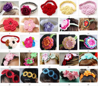 1pc crochet baby girl headbands hair accessories cotton 0- 8Y...