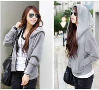 Wholesale Plus size women clothing long sleeve hoody sweatshirt casual loose sports outerwear