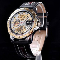 Men's high end watches - MCE leather high grade watches Male high end watch Hollow out mechanical watch