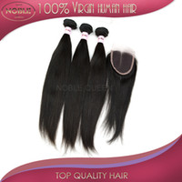 Wholesale Free part lace top closure with hair weave inch to inch indian brazilian virgin hair weft malaysian peruvian remy hair extension bulk