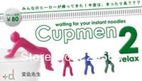 Stuffed EVA 2 -4Years Free shipping 5piece lot Cupmen 2 Relax Instant Noodle Figure Set Instant Ramen Readiness Indicator