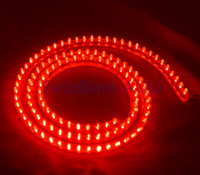 Red   Free Shipping 12V 120cm Truck Decoration Neon Strobe Lights Flexible PVC Signaling Lamp Striping Daytime Running Lights U0242