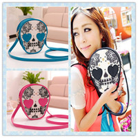Shoulder Bags Women Plain 2014 New Fashion bags the Skull wallets Women 4 Colors Cartoon Pattern mini Cross body Shoulder bags Female Summer Shopping Designer handbag