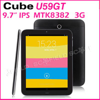 Wholesale Cube U59GT Talk MTK8382 inch Android G Tablet PC Quad Core IPS Screen G RAM G ROM Android