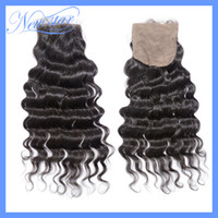 Brazilian Hair Ombre Color Curly New Star Brazilian Virgin Hair loose wave Silk Base lace closure top closures. 10-20inch DHL Free shipping