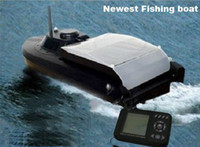 Wholesale Remote Control Bait Boat Fish Finder boat Sonar Fish Finder fish feeding hook releasing water depth amp temperature exploration