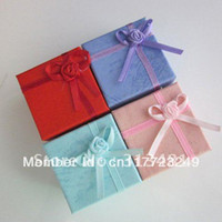 Wholesale cm Mixed Colors Paper Ring Gift Display rings Boxes Cheap Jewelry Packaging Box DR R001
